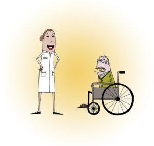 お医者さんを怒鳴ってストレス発散するおじいちゃん